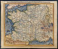 1575ca - France - Carte géographique ancienne - Par Munster - Gravure ancienne
