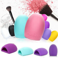 Egg Cleaning Glove MakeUp Washing Brush Scrubber Board Cosmetic Brush Cleaner H1