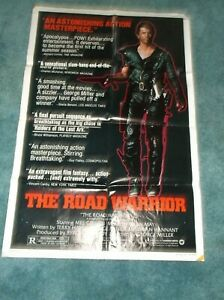 """THE ROAD WARRIOR(1982)MEL GIBSON ORIGINAL STYLE """"B"""" ONE SHEET POSTER 27""""BY41"""""""