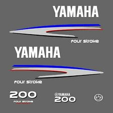 kit stickers YAMAHA 200 cv serie 2 - autocollant capot moteur hors-bord decals