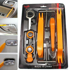 12Pcs Car Radio Door Clip Panel Trim Dash Removal Plastic Audio Tool Set Pry Kit