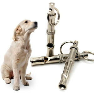 Height Ultrasonic Training Whistle Adjustable with Bark Control Pet Keychain EH