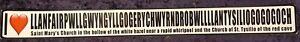 I Love Llanfairpwllgwyngyll - gogogoch Bumper Laptop Window Sticker