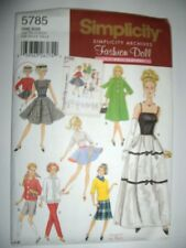 Barbie Doll New Simplicity 5785 Pattern Vintage Tops Skirts