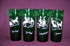 4 Anchor Hockng Gay Nineties forest green glass tumbler