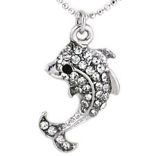 Clear Stone Dolphin Sea Animal Pet Charm Anklet Fashion Summer Jewelry for Girls