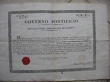 M879-STATO PONTIFICIO-ASCOLI CERTIFICATO PER ARCHITETTO