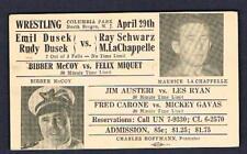 1946 wrestling postcard LaChappelle Bibber McCoy  Gavas