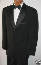 42L New Black Trieste Wool Tuxedo Jacket Free Shipping 42 Long Tall Tux Coat