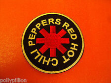 ROCK PUNK METAL MUSIC SEW/IRON ON PATCH:- RED HOT CHILI PEPPERS RHCP DISC (a)