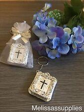 24 Baptism Mini Biblies Favors Keychains Communion Recuerdos Para Bautizo
