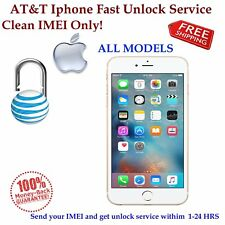 FAST FACTORY UNLOCK SERVICE AT&T USA for IPhone CLEAN only, READ