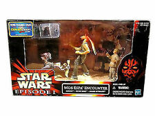 Star Wars Episode I Hasbro 1999 MOS ESPA ENCOUNTER 3 Pack Figures Playset NRFB