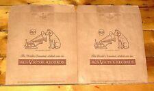2 VINTAGE 1950's RCA LP Bags UNUSED MINT Elvis