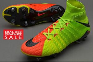 New Nike Green Hypervenom Phantom 3 SGPRO SG Football Boots Studs 7 8 10 11uk