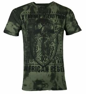 XTREME COUTURE by AFFLICTION Men T-Shirt INITIATION Tattoo Biker MMA GYM S-5X