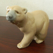 LLADRO RETIRED PIECE #1204 Attentive Bear (Brown)
