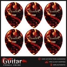 6 X Fender Thin 354 Medium Teardrop Shape Classic Celluloid Picks