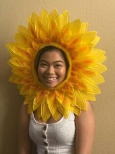 Kids Adults Yellow Sunflower Head Piece Costume