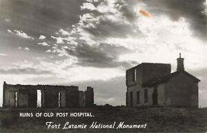 Postcard Ruins Of Old Post Hospital Fort Laramie National Monument