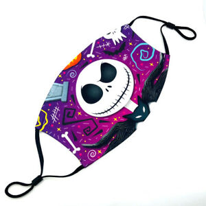 The Night Before Christmas Jack Filter Pocket Adjustable Ear-Bands Mouth Cover