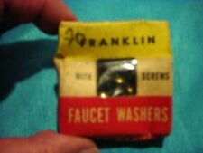 Vintage Franklin Assorted Sizes Faucet Washers W/Screws. Mib