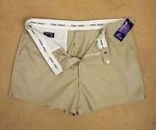 "Fred Perry Size W 42"" Poly Cotton Classic Style Regular Fit Vintage Shorts Beige"