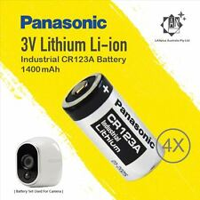 1 Set Panasonic CR123A Battery 4 Netgear Arlo 3 Security Camera Vms3330 3430