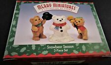 1997 Hallmark Keepsake Ornament Merry Miniatures ~ Snowbear Season (3 pcs) Mint