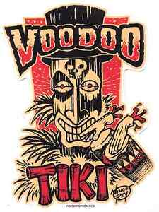 Voodoo Tiki Sticker Decal Vince Ray VR81