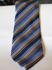 MENS HAND MADE KAI LONG BLUE PURE SILK TIE EXCELLENT CONDITION # 365