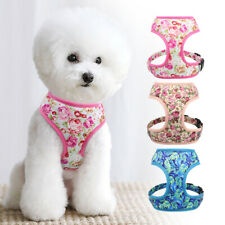Breathable Small Dog Cat Pet Harness Vest Collar Chest Plate Pink Blue Beige