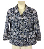 Womens CJ Banks Snap Front Blue Jacket Plus Size 1X Two Pockets Long Sleeve