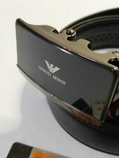 A14 BLACK LEATHER MAN BELT 52''  AOTUMATIC BUCKLE SHIPPING WITH TRACKING NUMBER