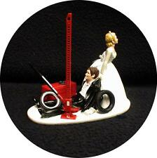Car AUTO MECHANIC Wedding Cake Topper Bride Draging Groom Jack Tool  Funny tools