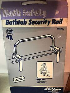 NEW IN BOX SUNMARK BATH SECURITY RAIL #4470 CHROME, NEW