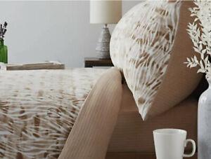 Cozee Home Brown Zebra Print Fleece 4pc Duvet Set - KING SIZE