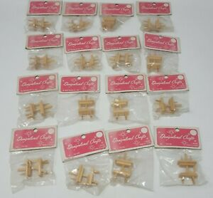 En Gros Lot 16 Vtg Designland Crafts Maison de Poupée Miniature en Bois à Tisser