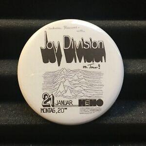 "JOY DIVISION Concert Poster Pin Button Badge 2.25"" Post-Punk Flyer Pinback 1980"