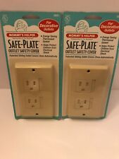 2 Mommy's Helper Safe-Plate Safety Sliding Outlet Covers Brand NEW