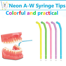 Dental 3 Way Air Water Syringe Disposable Spray Tips Triple Nozzles Tubes Bulk