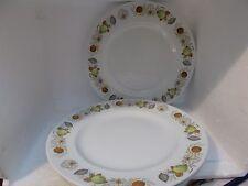 6 alfred meakin glo white 25.5cm dia dinner plates (evesham pattern)