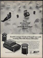 1968 ZENITH Troubador Model Z590 FM Stereo Radio Turntable VINTAGE ADVERTISEMENT
