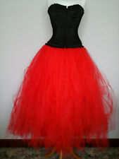 tutu skirt red ONE SIZE 8 to 22 prom wedding petticoat gypsy goth witch quirky