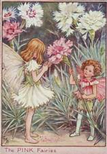 Flower Fairies: The Pink Fairies Vintage Print c 1930 Cicely Mary Barker