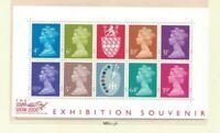 MGB16) Great Britain 2000 Machins 'The Stamp Show' Minisheet MUH