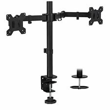 Dual Monitor Mount, Double Monitor Desk Stand, Base Doble para Monitor