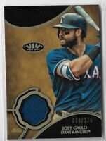 2019 Topps Tier One Baseball Joey Gallo Tier One Relic Card 030/375 Texas Ranger