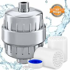 Shower Filters 2 Pack 12 stage Hard Water Softener High Output Premium Cartridge