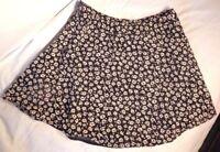Forever 21 Womens Floral Short Mini Skirt Blue White Size US 29
